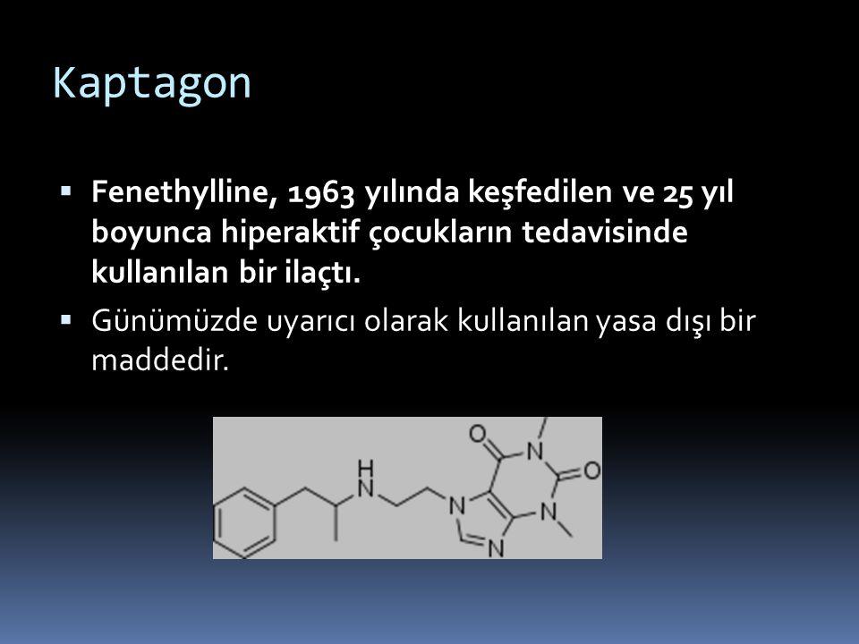 Kaptagon Fenethylline, 1963 yılında keşfedilen ve 25 yıl boyunca hiperaktif çocukların tedavisinde kullanılan bir ilaçtı.