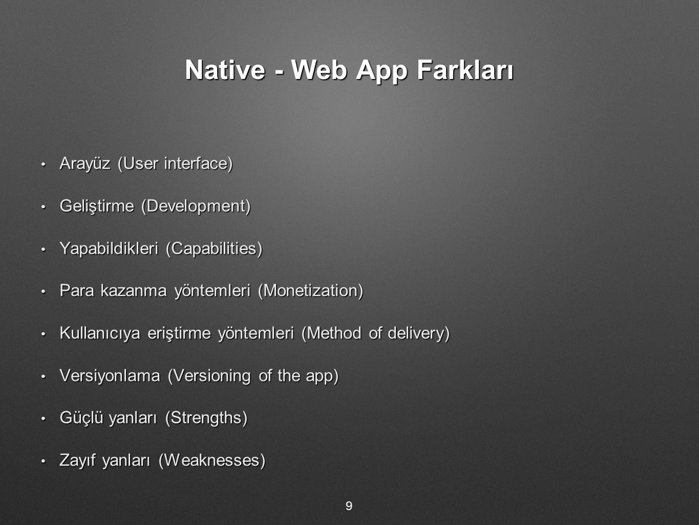 Native - Web App Farkları