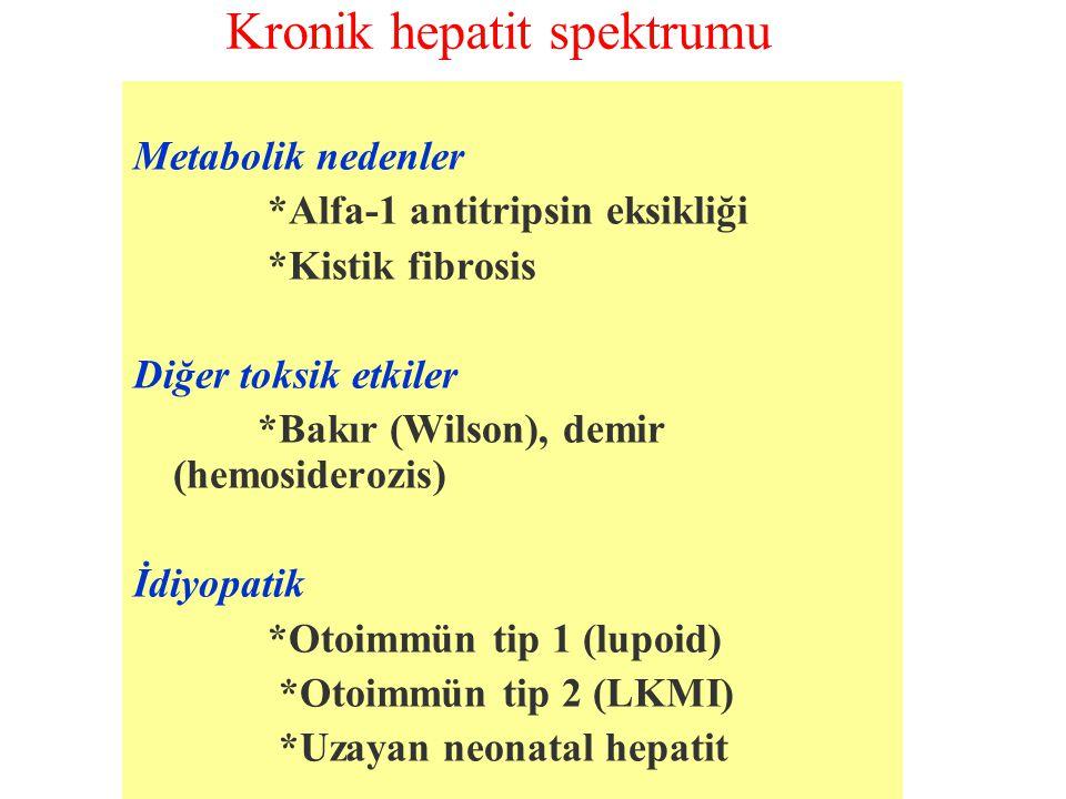 Kronik hepatit spektrumu