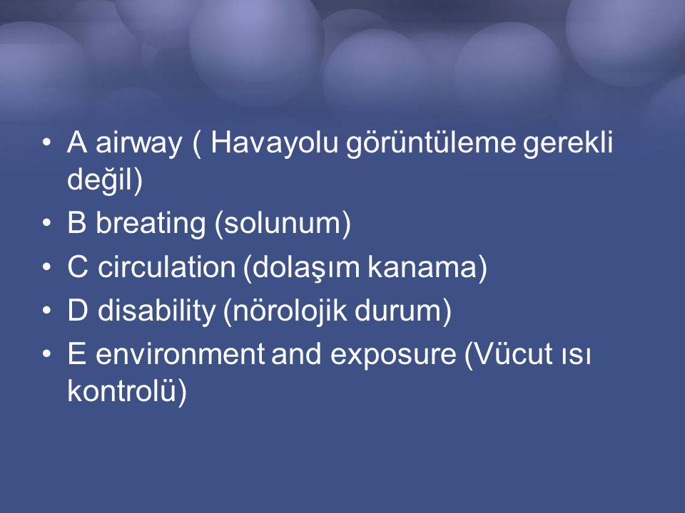 A airway ( Havayolu görüntüleme gerekli değil)