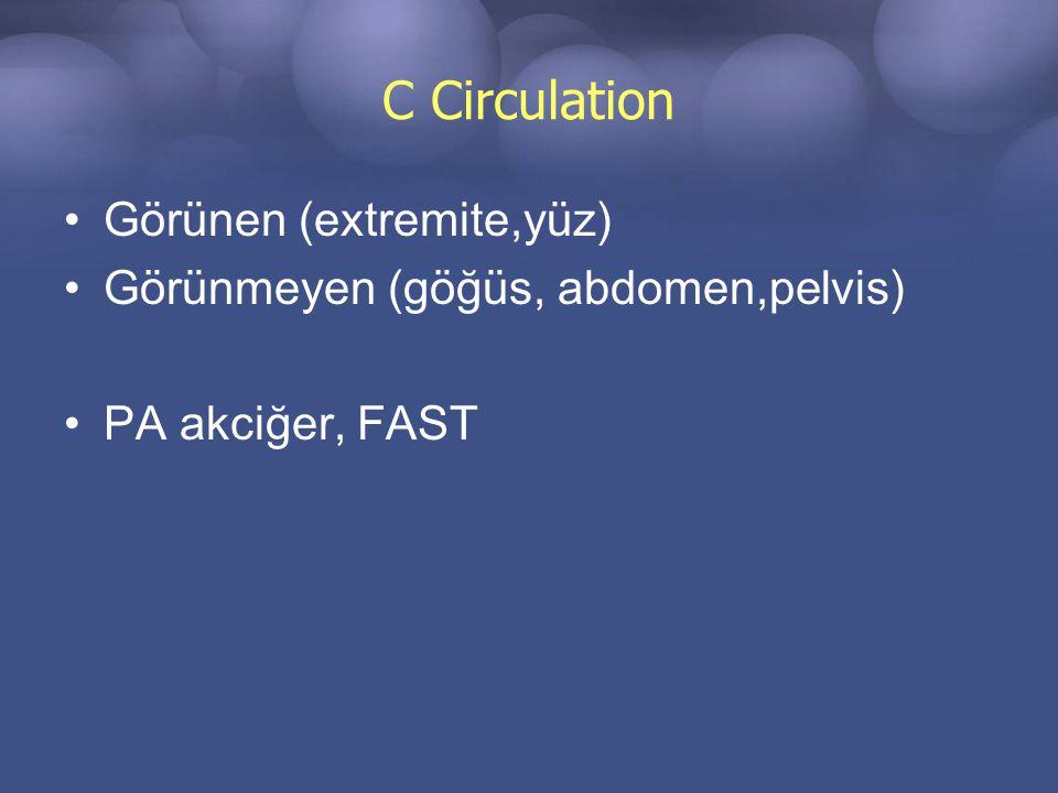 C Circulation Görünen (extremite,yüz)