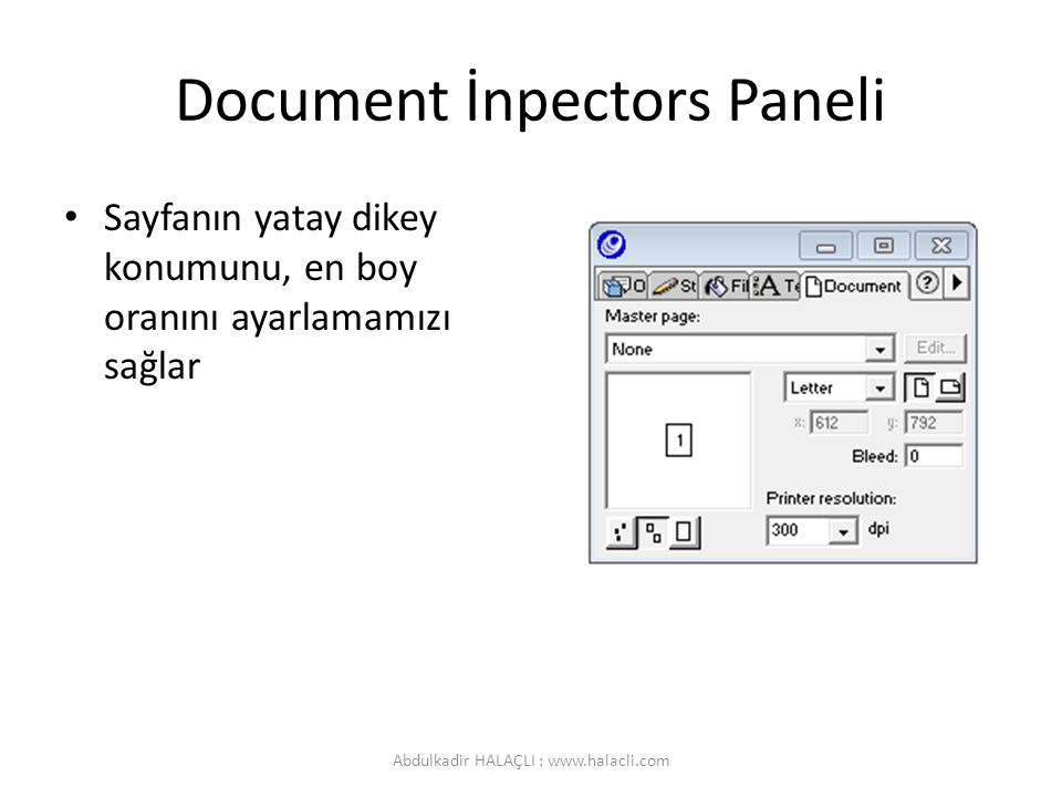 Document İnpectors Paneli