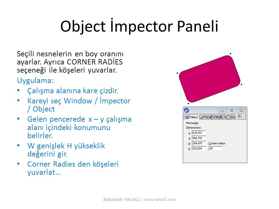Object İmpector Paneli