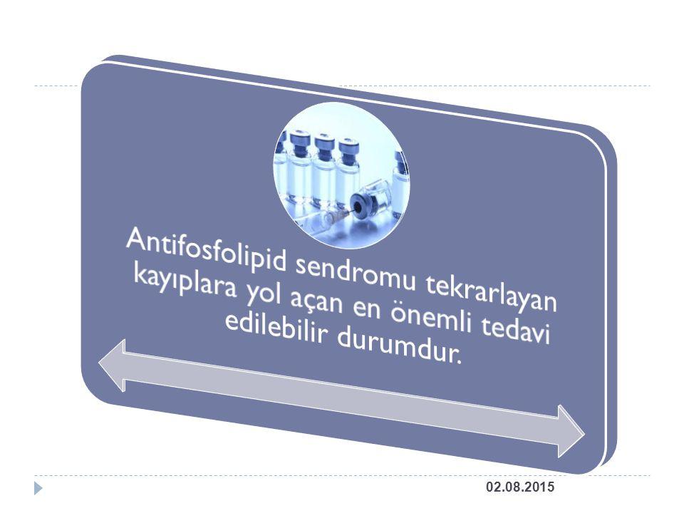 Antifosfolipid sendromu tekrarlayan kayıplara yol açan en önemli tedavi edilebilir durumdur.