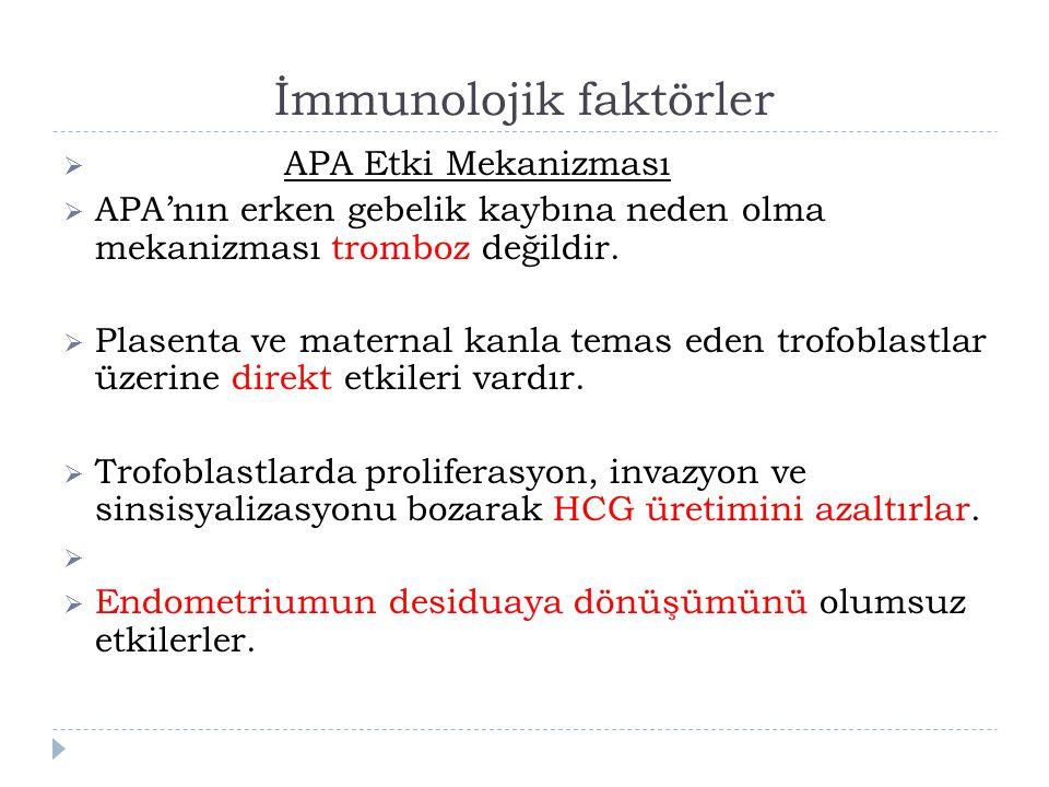 İmmunolojik faktörler