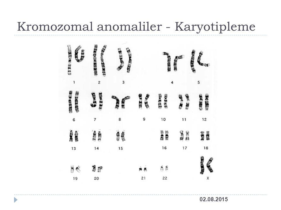 Kromozomal anomaliler - Karyotipleme
