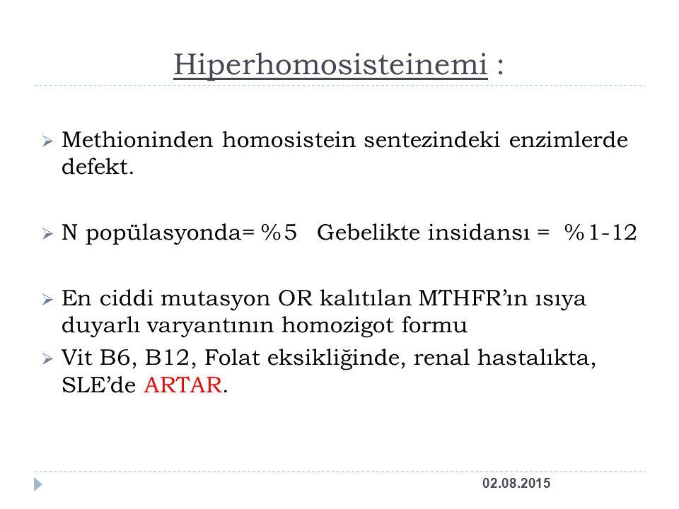 Hiperhomosisteinemi :