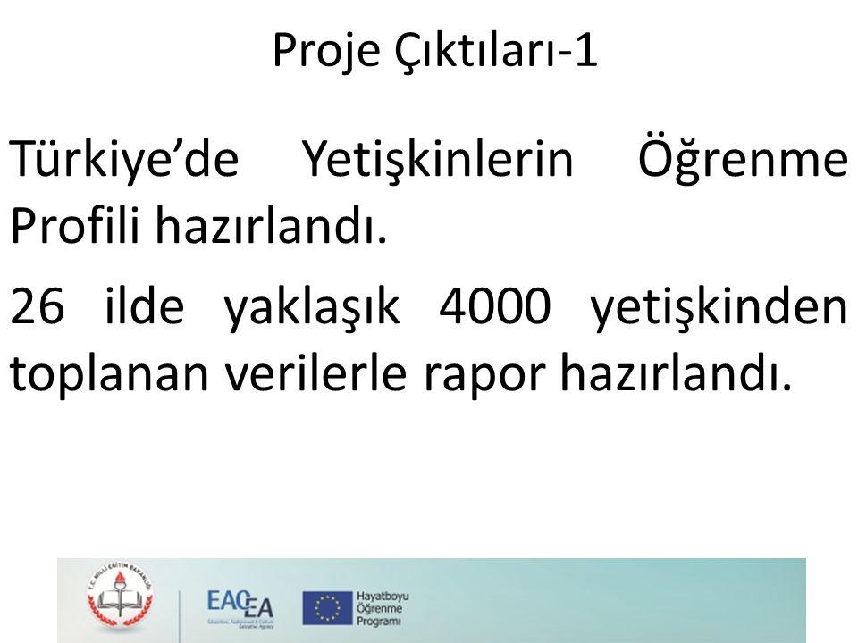 Türkiye'de Yetişkinlerin Öğrenme Profili hazırlandı.