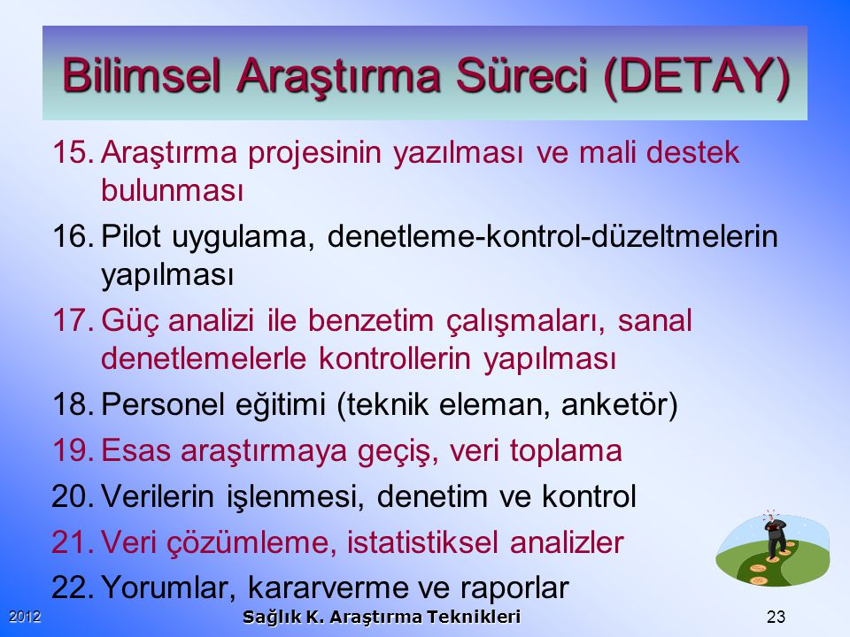 Bilimsel Araştırma Süreci (DETAY)