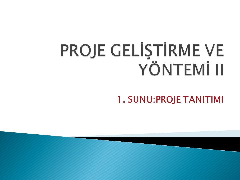 PROJE GELİŞTİRME VE YÖNTEMİ II