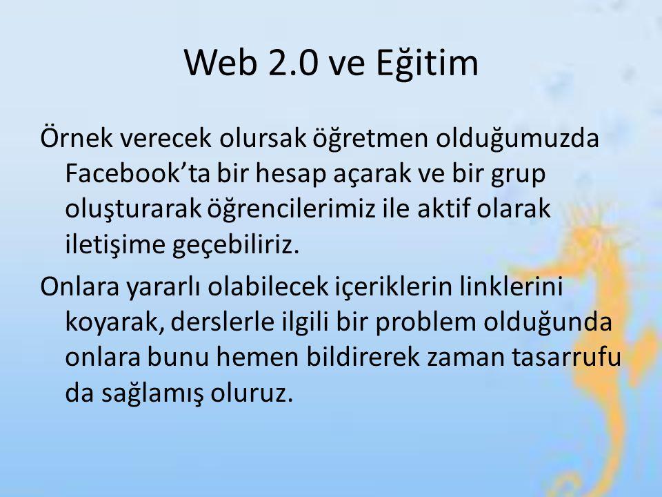 Web 2.0 ve Eğitim