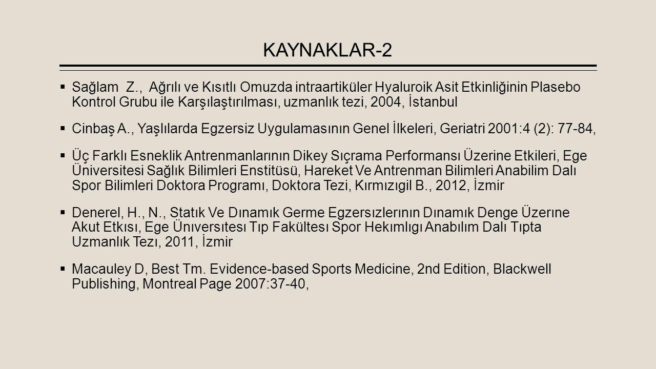 KAYNAKLAR-2