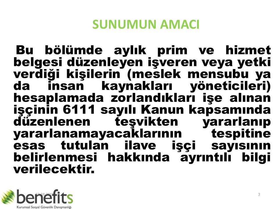 SUNUMUN AMACI.