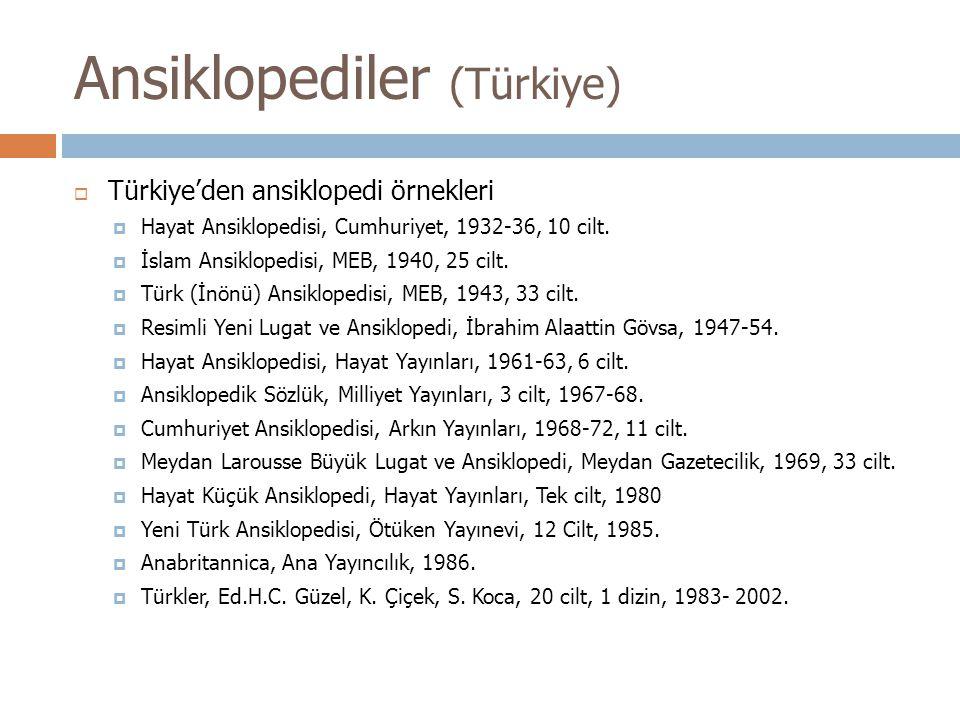 Ansiklopediler (Türkiye)