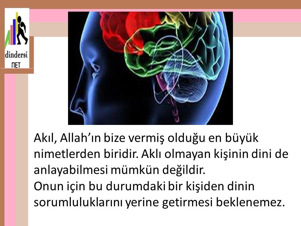 Akıl, Allah'ın bize vermiş olduğu en büyük nimetlerden biridir