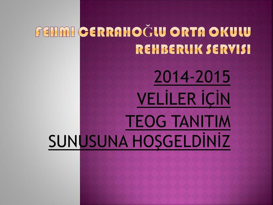 Fehmi Cerrahoğlu Orta Okulu Rehberlik Servisi