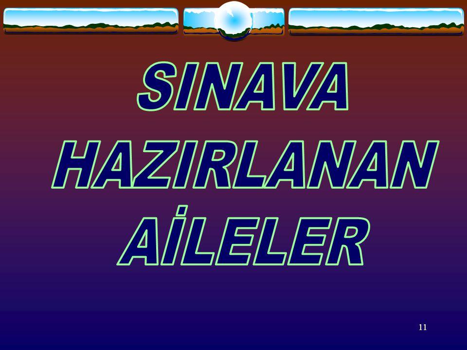 SINAVA HAZIRLANAN AİLELER