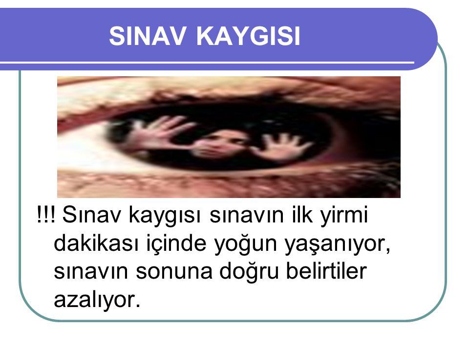 SINAV KAYGISI !!.