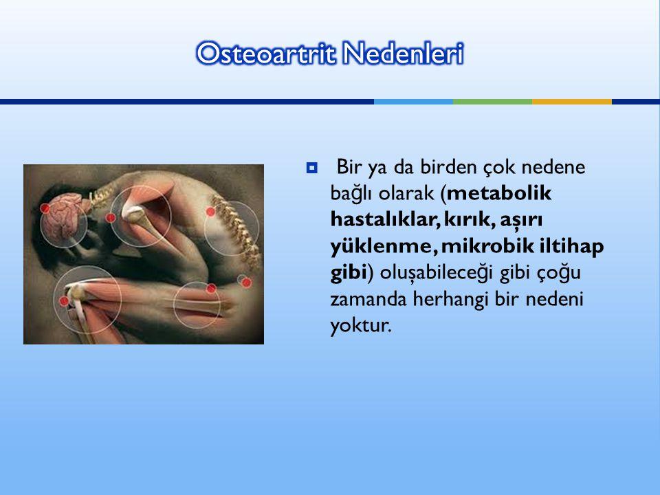 Osteoartrit Nedenleri