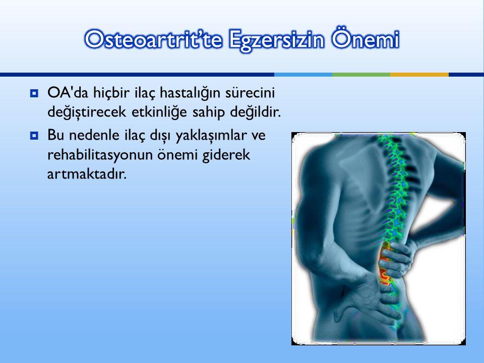 Osteoartrit'te Egzersizin Önemi