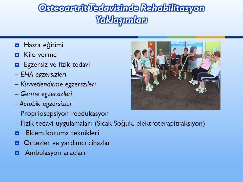 Osteoartrit Tedavisinde Rehabilitasyon Yaklaşımları