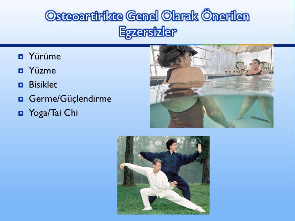 Osteoartirikte Genel Olarak Önerilen Egzersizler