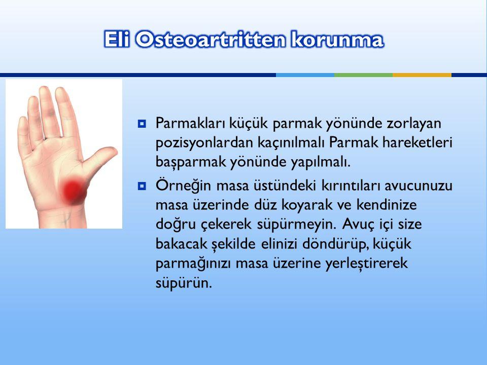 Eli Osteoartritten korunma