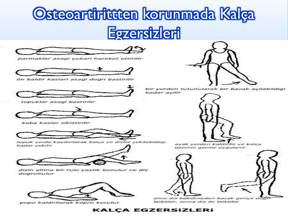 Osteoartirittten korunmada Kalça Egzersizleri