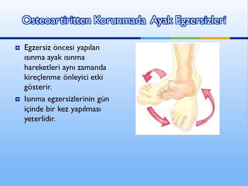 Osteoartiritten Korunmada Ayak Egzersizleri
