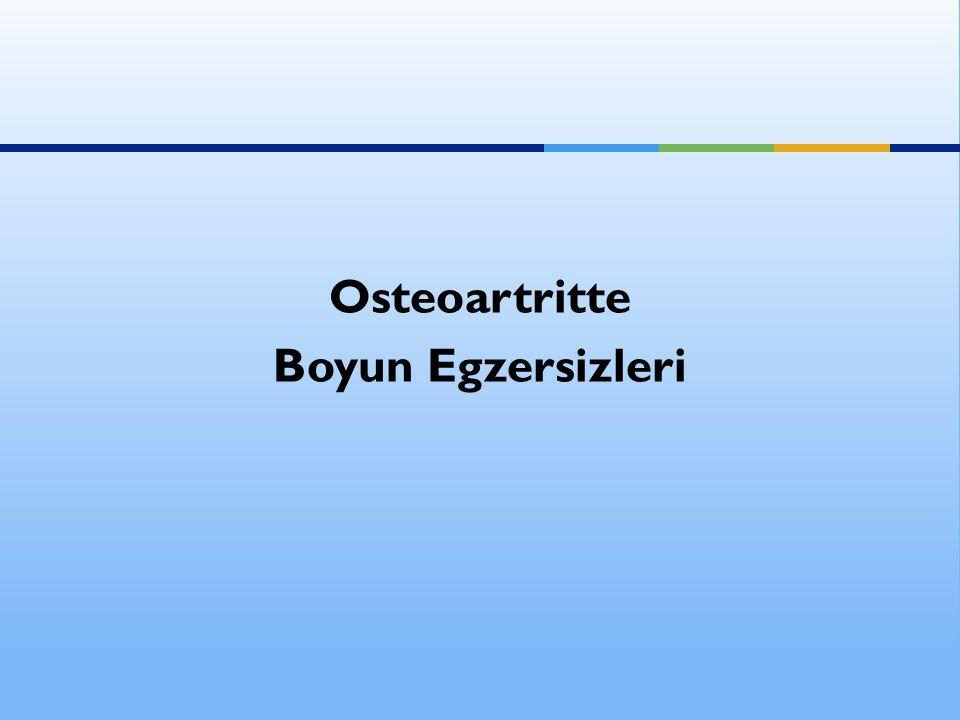 Osteoartritte Boyun Egzersizleri