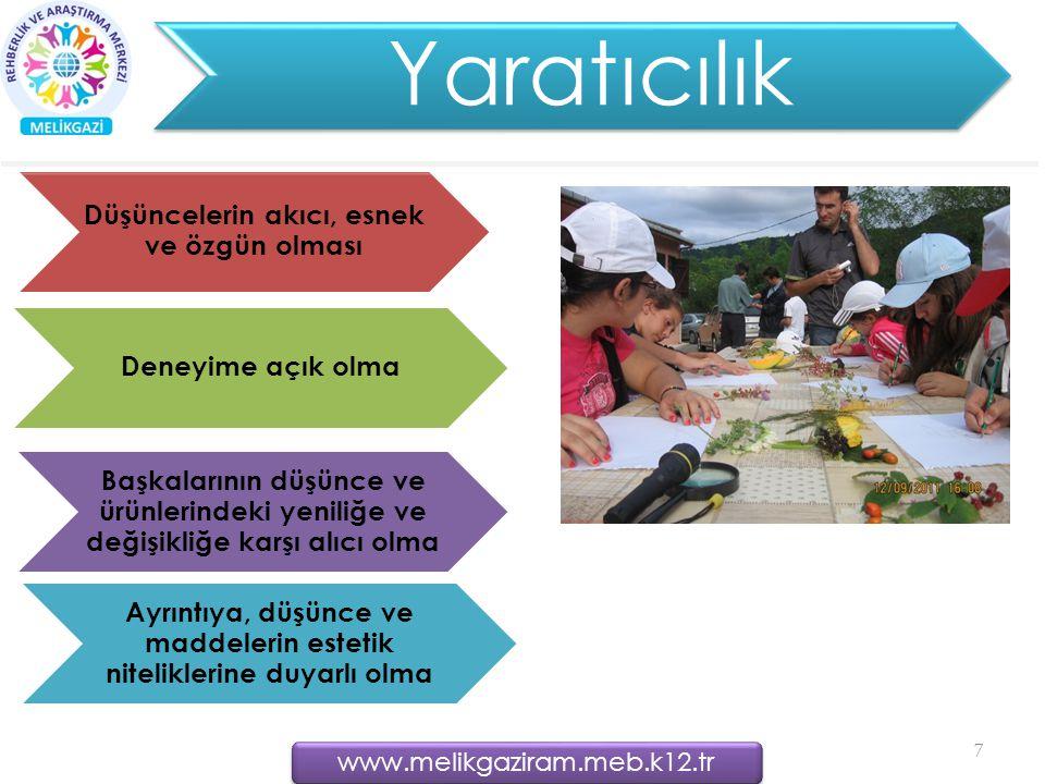 Yaratıcılık www.melikgaziram.meb.k12.tr