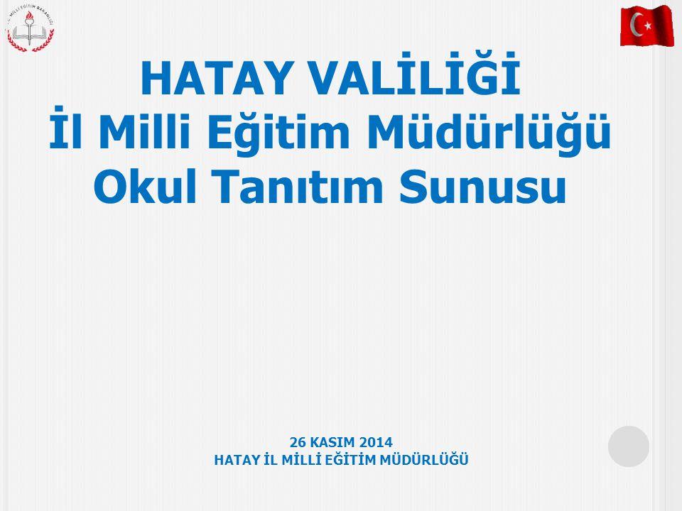 İl Milli Eğitim Müdürlüğü HATAY İL MİLLİ EĞİTİM MÜDÜRLÜĞÜ