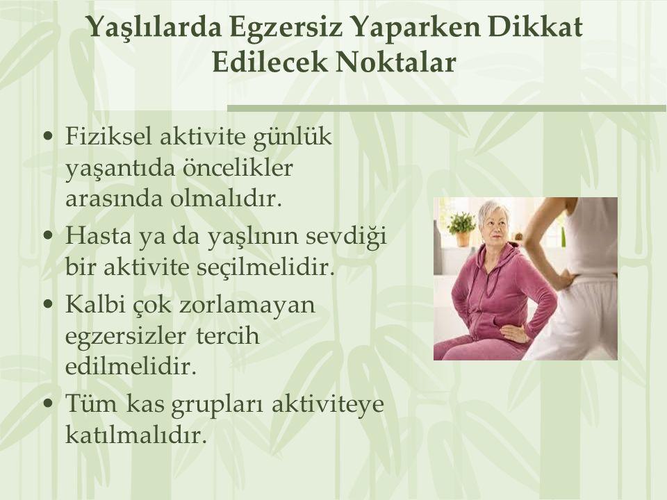 Yaşlılarda Egzersiz Yaparken Dikkat Edilecek Noktalar