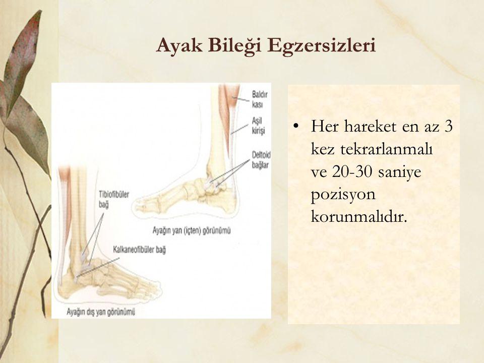 Ayak Bileği Egzersizleri