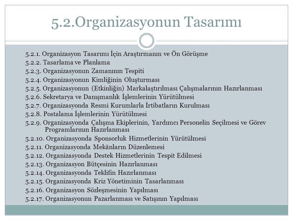 5.2.Organizasyonun Tasarımı