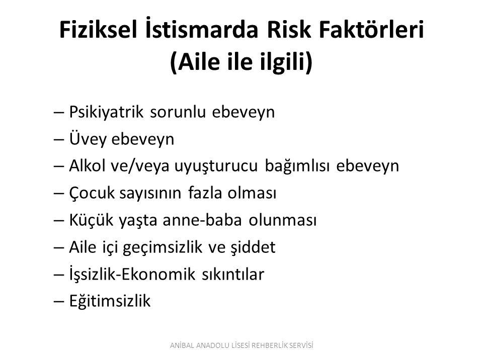 Fiziksel İstismarda Risk Faktörleri (Aile ile ilgili)