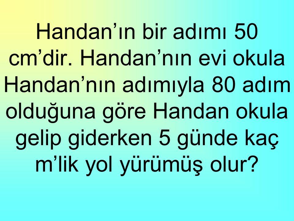 Handan'ın bir adımı 50 cm'dir