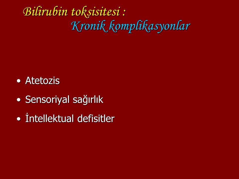 Bilirubin toksisitesi : Kronik komplikasyonlar