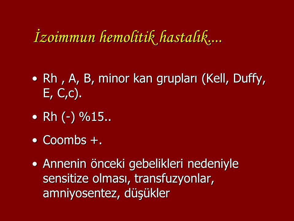 İzoimmun hemolitik hastalık....