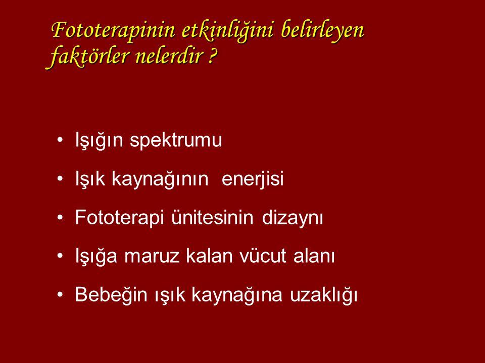 Fototerapinin etkinliğini belirleyen faktörler nelerdir
