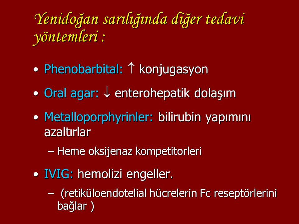Yenidoğan sarılığında diğer tedavi yöntemleri :