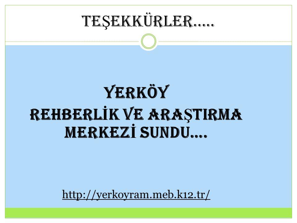 REHBERLİK VE ARAŞTIRMA MERKEZİ SUNDU….