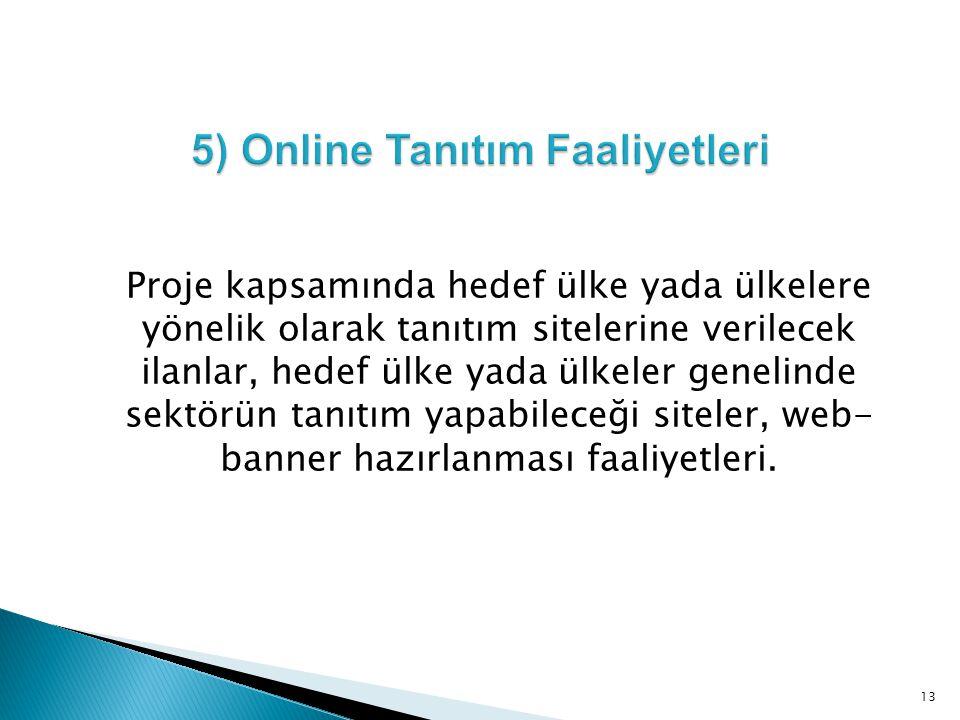 5) Online Tanıtım Faaliyetleri