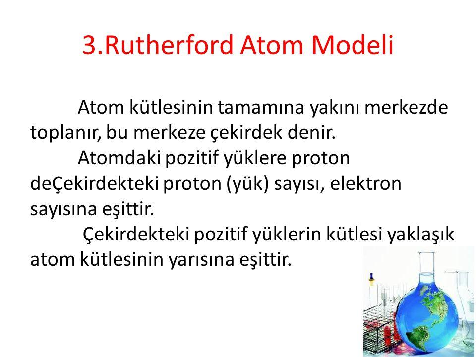 3.Rutherford Atom Modeli