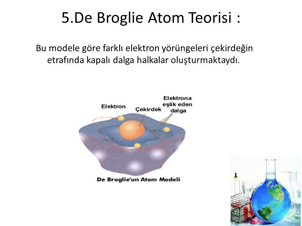 5.De Broglie Atom Teorisi :