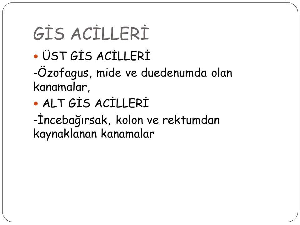 GİS ACİLLERİ ÜST GİS ACİLLERİ