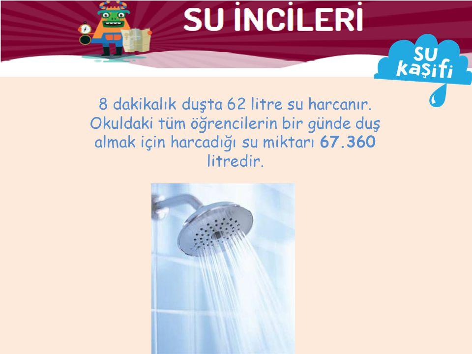 8 dakikalık duşta 62 litre su harcanır