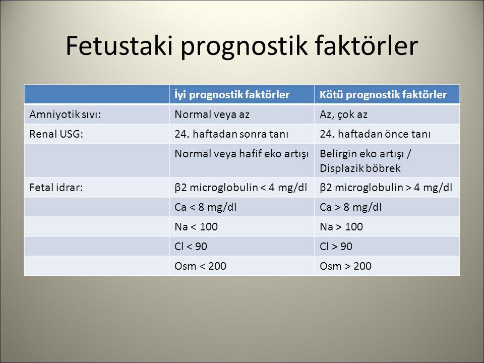 Fetustaki prognostik faktörler