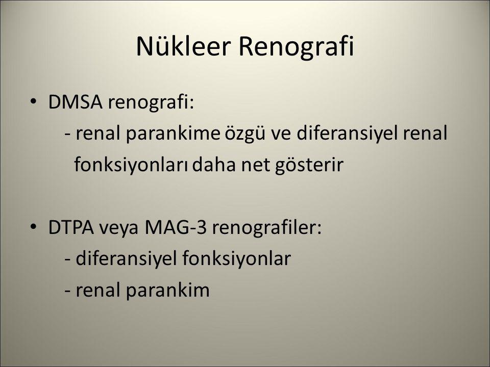 Nükleer Renografi DMSA renografi:
