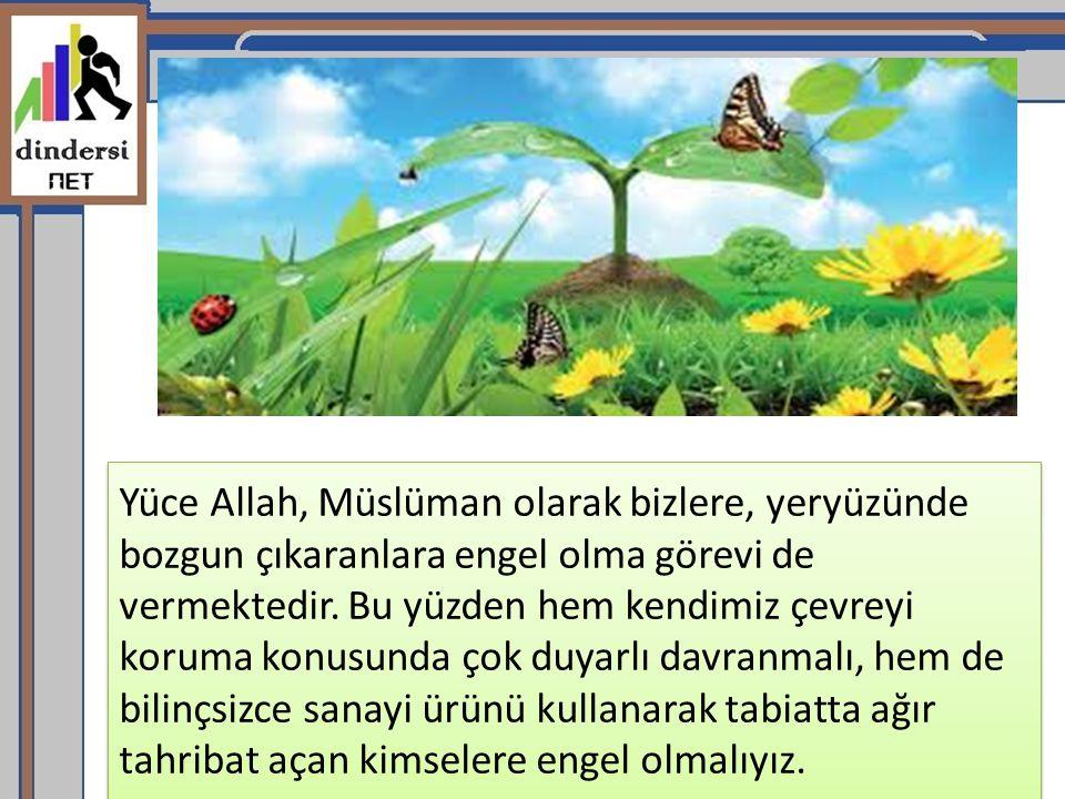 Yüce Allah, Müslüman olarak bizlere, yeryüzünde bozgun çıkaranlara engel olma görevi de vermektedir.